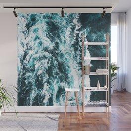 Sea Waves Dark Wall Mural