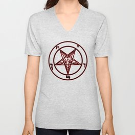 Das Siegel des Baphomet - The Sigil of Baphomet (red) Unisex V-Neck