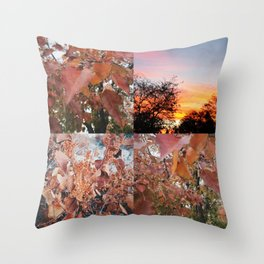 Autumnal Colors Collage Throw Pillow