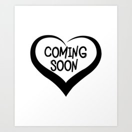 Coming Soon Pregnancy Announcement Gift Art Print
