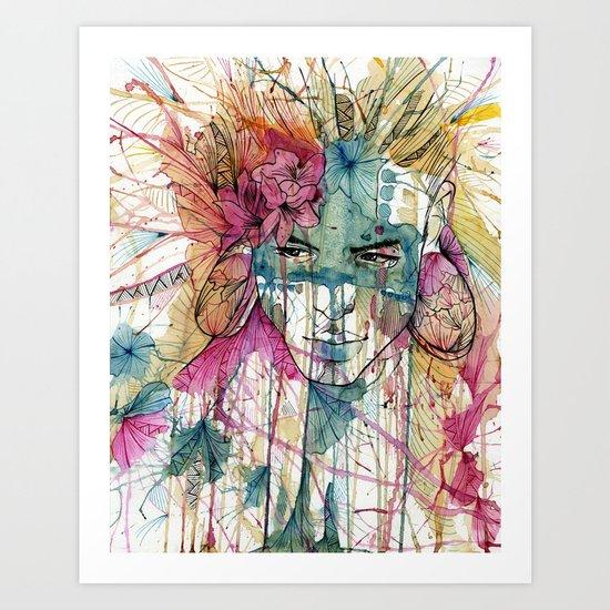 Mask | Natural Fashion Art Print