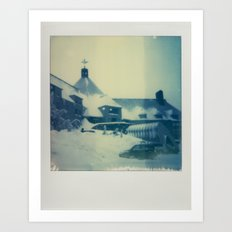 Timberline Lodge - Polaroid Art Print