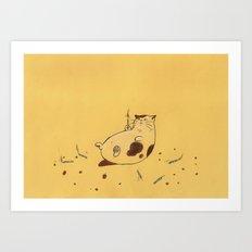 Happy Birthday fat cat '^^) Art Print