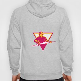 Power Lineman With Thunderbolt Triangle Hoody