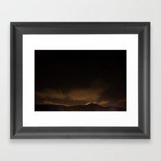 Staring night Framed Art Print
