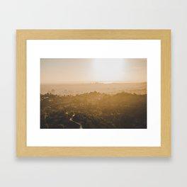 Golden Hour - Los Angeles, California Framed Art Print