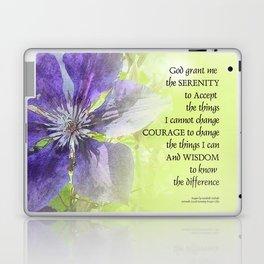 Serenity Prayer Clematis Purple Green Laptop & iPad Skin
