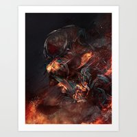 atheist Art Prints featuring Thoughts of A Dying Atheist by Matteus Faria