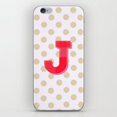 J is for Joy iPhone & iPod Skin