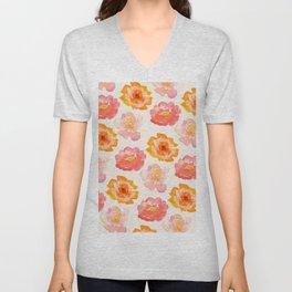 Orange Blossoms Unisex V-Neck