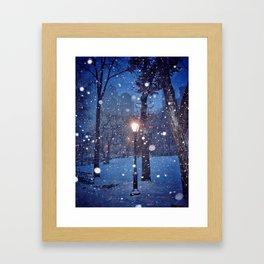 A light in the storm Framed Art Print
