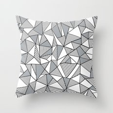 Abstract Lines With Grey Blocks Throw Pillow
