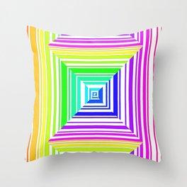 barcode. 1 rainbow Throw Pillow