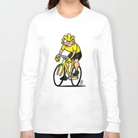 cycling Long Sleeve T-shirts featuring Cyclist - Cycling by Cardvibes.com - Tekenaartje.nl
