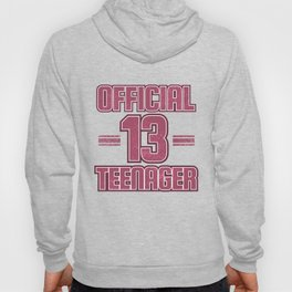 Official Teenager Cute 13 Year Old Distressed Pink graphic Hoody