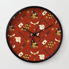 Wizarding Pattern Wall Clock