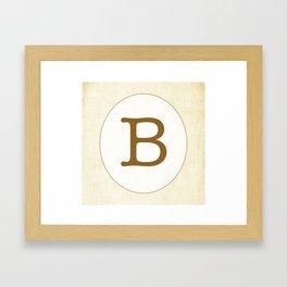 Vintage Letter Series - B Framed Art Print