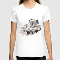 pitbull T-shirts featuring Majestic Pitbull by Carrillo Art Studio
