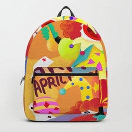 April Fool Clown Backpack