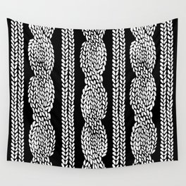 Cable Black Wall Tapestry