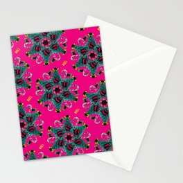 pop pattern_christmas Stationery Cards