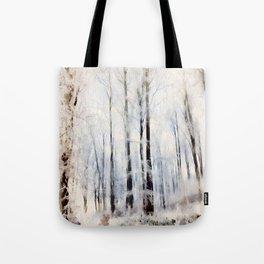 Winter landscape Aquarell Tote Bag