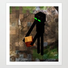Enderman Art Print