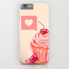 Cherry Heart Cupcake iPhone 6s Slim Case