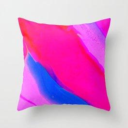 Wavy & Pink Throw Pillow