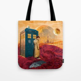 Time Traveller at Gallifrey Planet Tote Bag