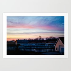 Sunset in Minnesota Art Print