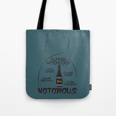 Notorious! Alfred Hitchcock Movie Poster Tote Bag