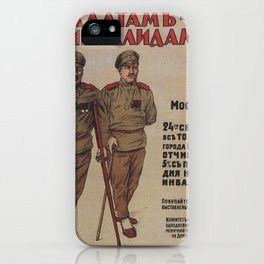 Vintage poster - Russia WWI iPhone Case