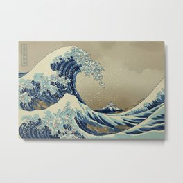 The Great Wave off 2049 Metal Print