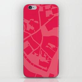 Vilnius map pink iPhone Skin