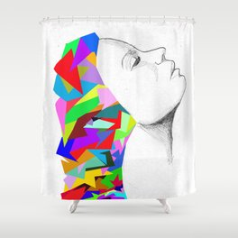 colorful mind Shower Curtain