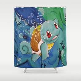 Water Type PokeM! Shower Curtain