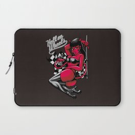 Devil Pin-Up Girl - Hell on Wheels Laptop Sleeve