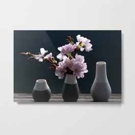 Cherry Blossoms Art Metal Print