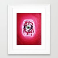 mouth Framed Art Prints featuring Mouth by Tufty Cookie