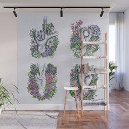 LOVE ASL Art- square version Wall Mural