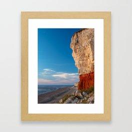 """Red cheesecake."" Old Hunstanton Beach, Norfolk UK Framed Art Print"