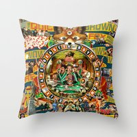 beastie boys Throw Pillows featuring Beastie Boys Wow! Wow! Wow! Remix Tape Cover by Jeff Drew Pictures
