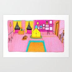 The Royal Tenenbaums Tent. Art Print