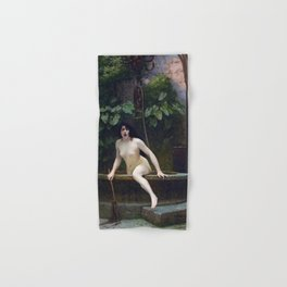 TRUTH COMING OUT OF HER WELL TO SHAME MANKIND - JEAN-LEON GEROME Hand & Bath Towel