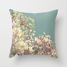 Magnolia in Bloom Throw Pillow