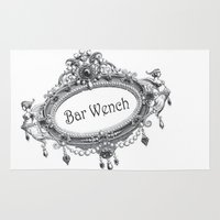 bar Area & Throw Rugs featuring Bar Wench by Andrea Jean Clausen - andreajeanco