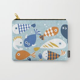 Fish Crowd Carry-All Pouch