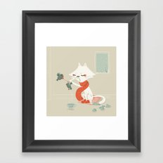Running nose Framed Art Print