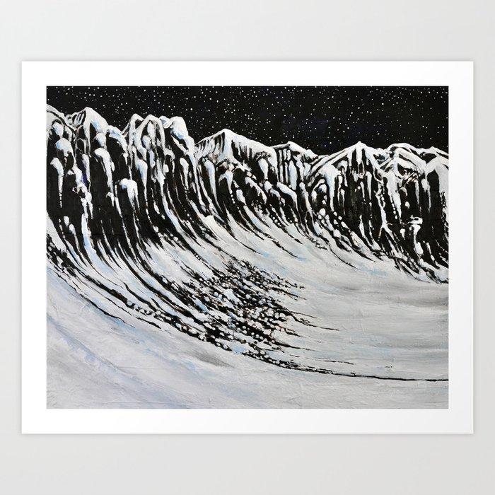 Starlit Cliffs Art Print
